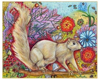 5x7 card Squirrel