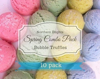 Bubble Bath Truffles (10) - Spring Scents Combo - Bath Melts - Bubble Bar - Bubble Scoop - Wedding Favors - Shower Gift - Gift for Her