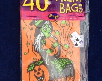 40 Halloween treat bags from 1995 unopened package
