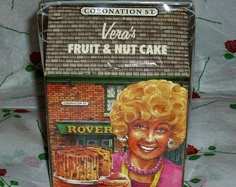 Coronation Street Vera's Fruit & Nut Cake British TV Soap Memorabilia Granada Television Soap Opera Corrie Vintage Collectable Jack And Vera