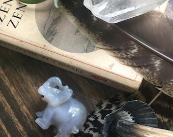 Agate Elephant Totem // Elephant Statue // Elephant Medicine // Spirit Animal // Animal Guide // Shadow Box Elephant // Stone Elephant 3