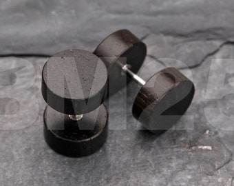 A Pair of Sono Wood Fake Plug
