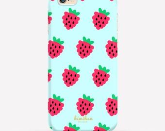 Strawberry iPhone Case, iPhone 6 Case, iPhone 6 Plus Case, iPhone 7 Case, iPhone 7 Plus case, Samsung Case, 2 in 1 Case, S6 Case
