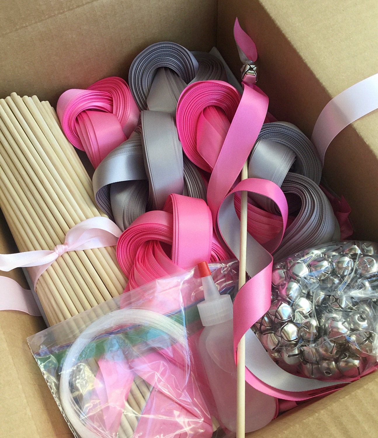 225 Diy Wedding Wand Kit Your Choice Of Ribbon Color From