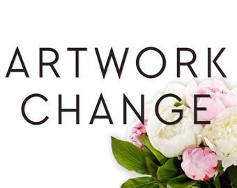 Invitation Artwork Change / Custom Invitation Design / Printable Template