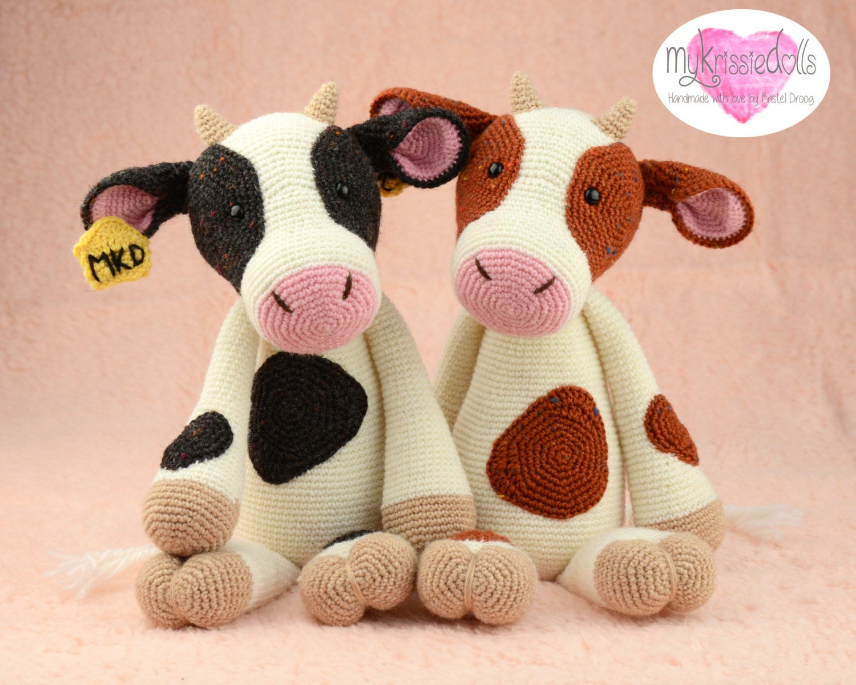 Tutorial Vaca Amigurumi Cow : Crochet Pattern COW by MyKrissieDolls on Etsy
