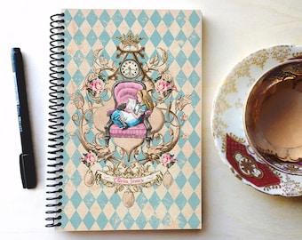 Alice in wonderland personalized journal/Personalised Spiral bound notebook/Notebook Personalised/Journal notebook/Alice in wonderland per