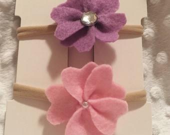 Felt Flowers Baby Headband Set