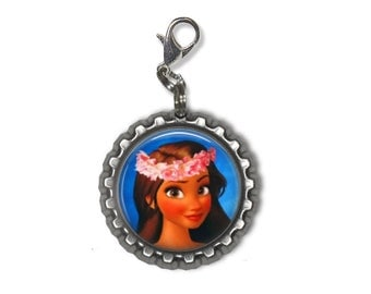 Disney Hawaiian Princess MOANA 3D Bottle Cap Charm