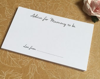 10 x Advice Cards for Baby Shower Party