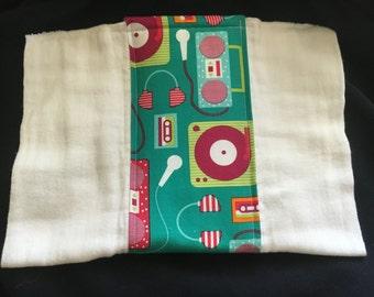 Boom Box burp cloth
