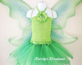Tinkerbell inspired tutu dress, tutu, girls, birthday, party