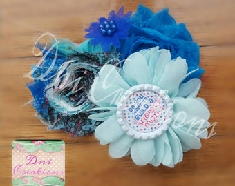 Frozen Chiffon flower headband/hair  clip Do you want to build a snow man?