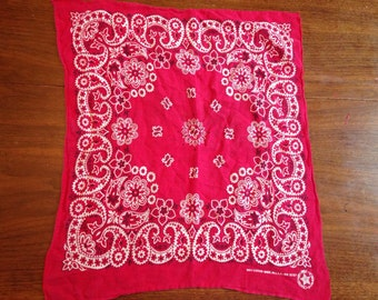 Vintage USA Handkerchief Bandana, Cotton