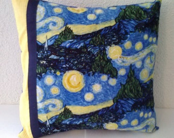 Starry Night pillow cover, Starry Night fabric, decorative pillow cover, pillow cover, throw pillow, blue pillow cover