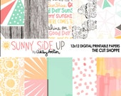 Sunny Side Up is a Digital collection, that can be used in your digital & hybrid scrapbooking, or printed out on your home printer.