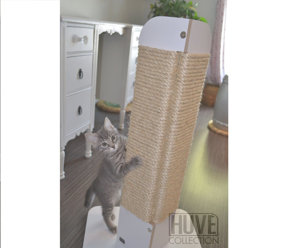free shipping modern white scratching post corner by huve collection -