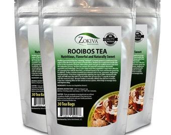 Rooibos Tea Bags 3-Pack (90 bags) Caffeine-Free Nutritious Naturally Sweet