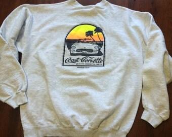 Vintage Coast Corvette Sweatshirt Anaheim California Adult Large