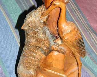 wood carving .sculpture on wood