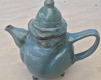 Functional stoneware handmade tea pot 5.5 cups
