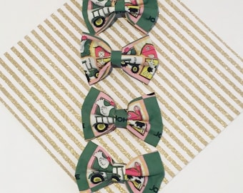 John Deere pink and green Bow-Hair Clip