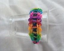 Rainbow loom band bracelet