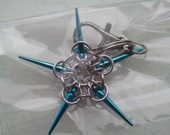 Spike star keyring