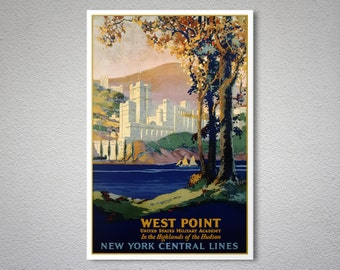 West Point  Vintage Travel Poster - Poster Print, Sticker or Canvas Print / Christmas Gift