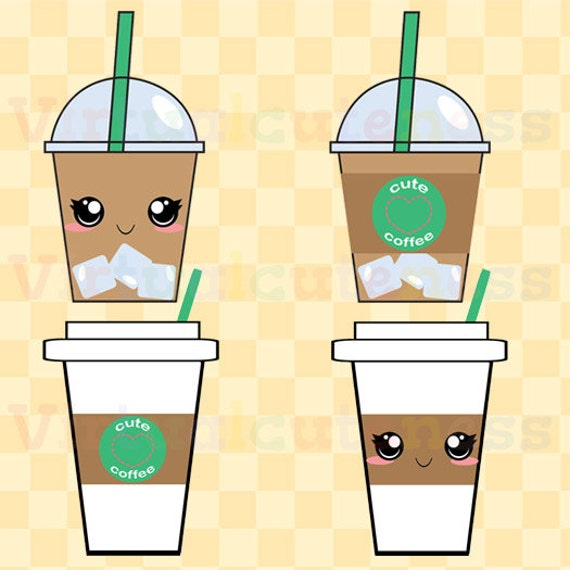 Iced Coffee Clip Art Espresso Clipart Coffee Cups Happy