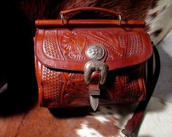 Vintage American West handbag satchel purse.