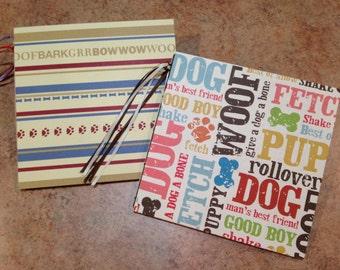 Adorable Dog-Pet 7x7 Scrapbook, Handmade Album