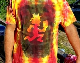 Handmade Fire Strike Hatchet Man Tagged Tie Dyed Shirt