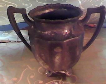 Antique Van Bergh sugar bowl, silver quadruple plated circa. 1892-1904