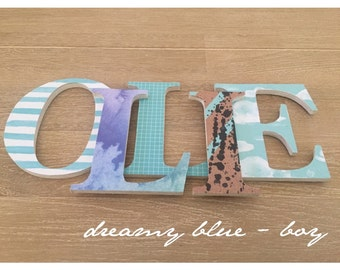 Personalised stylish wooden letters