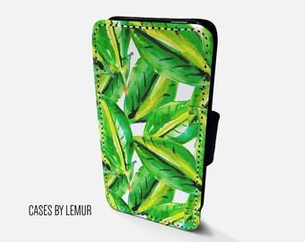 PALM LEAF Wallet Case For Samsung Galaxy S6 Wallet Case For Samsung Galaxy S6 Leather Case For Samsung Galaxy S6 Leather Wallet Case For