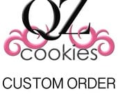 CUSTOM ORDER - One Dozen (12) Rainbow Stripe Hearts Mini Cookies