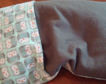 Owls Corn Cozi Bag Heating Pad with Removable Cover