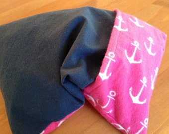 Anchors Pink Navy Corn Cozi Bag Heating Pad with Removable Cover
