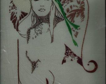 "Vintage ""Touch of Tara"" Creative Stitchery Needlework Kit of Woman's Silhouette"