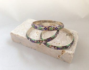 Cloissone Bangles - Set of 3