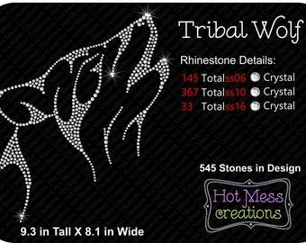Tribal Wolf Rhinestone Download