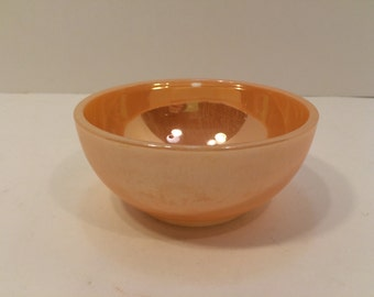 Vintage Mid Century Fire King Peach Lusterware,  Lustre, Ice Cream Bowl, Cereal Bowl , Soup Bowls