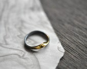 MOBIUS Ring - Silver and Gold