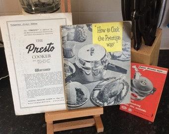 presto canner instruction booklet