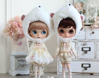 NIGO---BLYTHE clothes 【Fairy Tales Series】={ Cinderella} = Mouse Coachman(Pink)