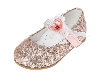 Leather shoes baby girl shoes gold shoes handmade elegant shoes baby wedding shoes baby baptism shoes size 4 5 6 7 8 9 US EU 17013066057B