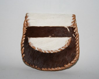 NEW Real Vintage Woman's Man Wallet 100% Natural Cow Leather Horse Shoe Shape