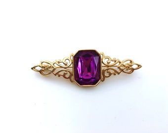 Park Lane Purple Rhinestone Brooch / Pin