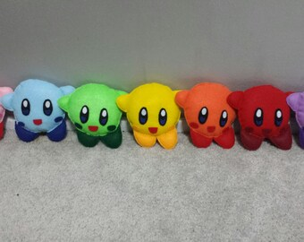 Kirby Plush Rainbow Kirby Pink Blue Green Yellow Orange Red Purple Kirby